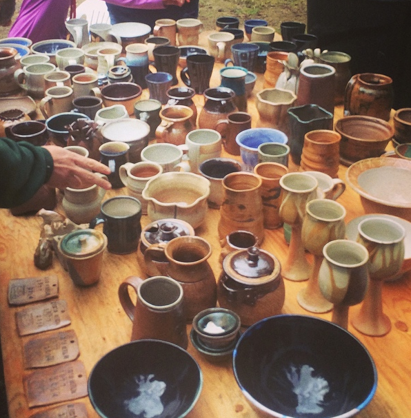 Some sweet pots from the 103rd firing!  We  had many visitors and helpers for the firing.  It was an amazing experience, one certainly that reminds me of why I do what I do--for the clay and community, great people and great pots!