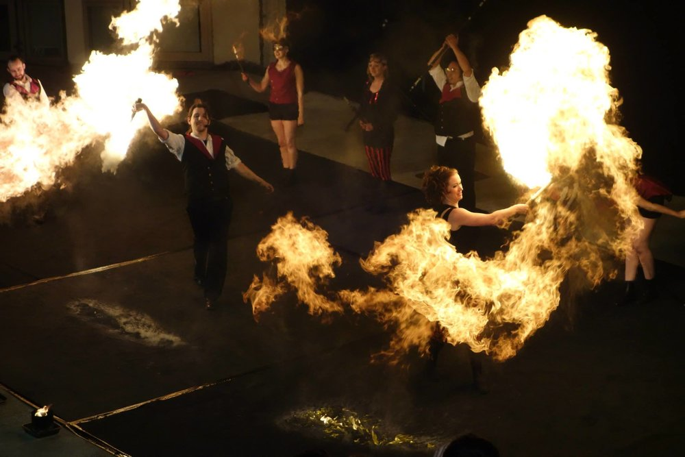 fire dancers uk