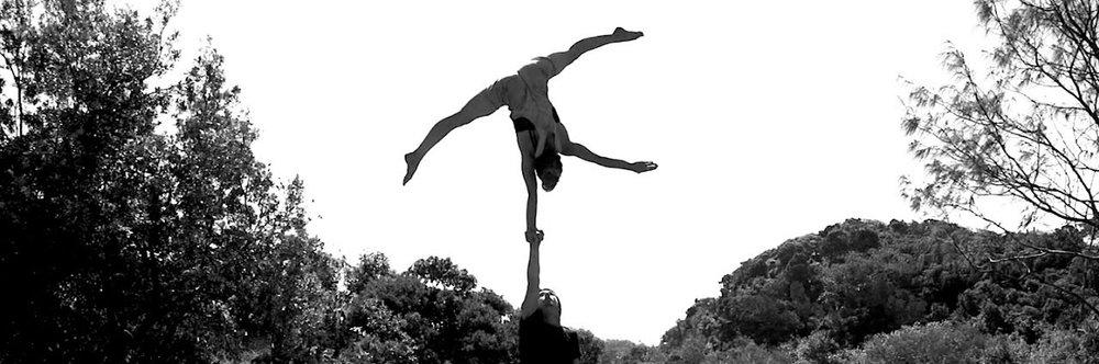 circus acrobats hand to hand act