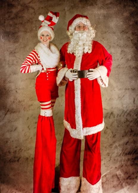 Elf and Santa stilt walkers.jpg