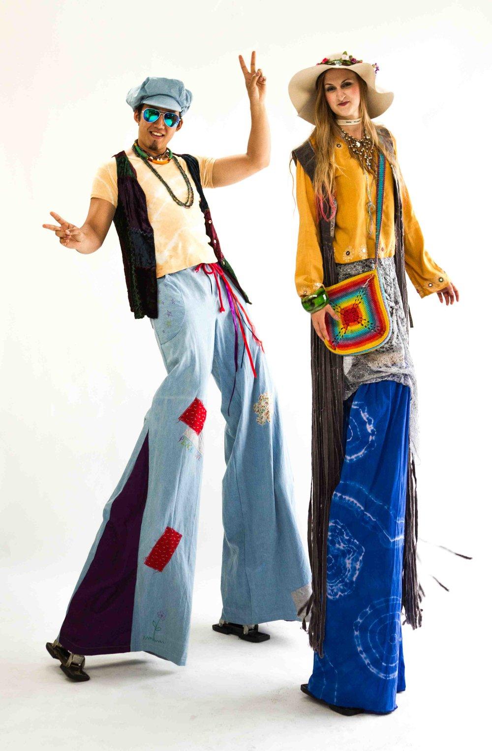 Hippy stilt characters.jpg