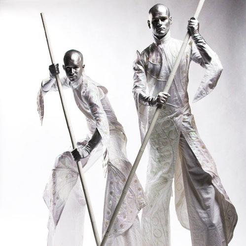 stilt walkers