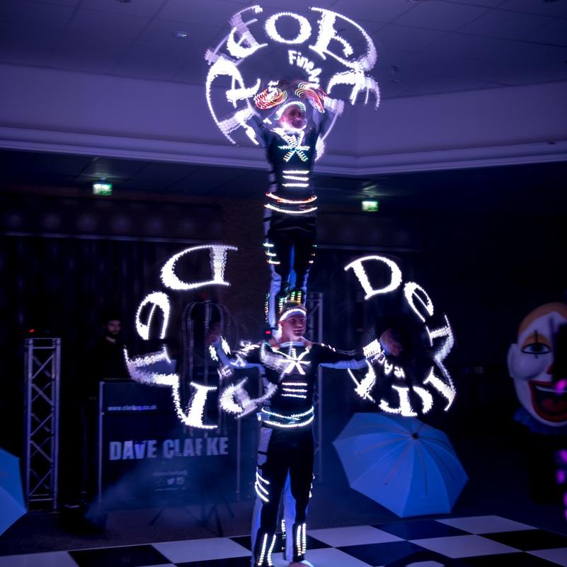 acrobatic glow show