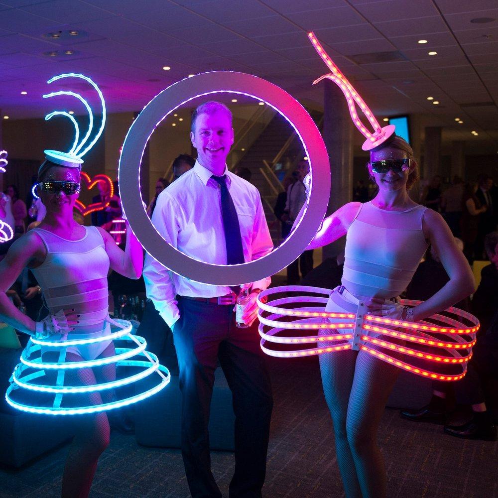 LED Interactive frames