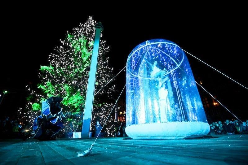 giant snow globe circus acrobats.jpg