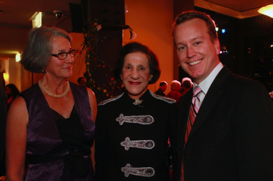 Liz with Marie Bashir and David Walker (countertenor).