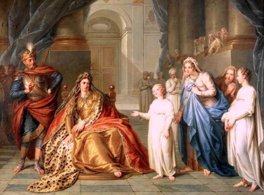 Athalia Questioning Jehosheba by Charles Antoine Coypel,