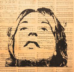 Mother. Wood Block Print Series. Art Center South FL. 2012. 30 x 30