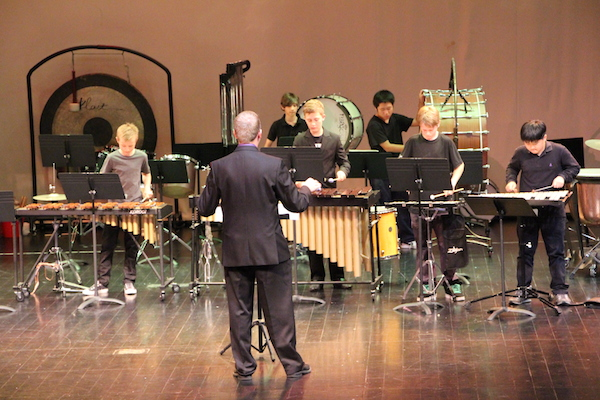 Quite possibly, I began my career as an educator by offering private  percussion  lessons in HS. Later in college, I began working for Tulsa Public Schools as a part time Assistant Band Director. At SCIS, I helped grow the percussion program from a single middle school class to a five year, four level program.