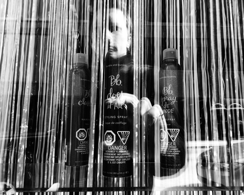Hair Salon Display Window - Edited with VSCO Cam.
