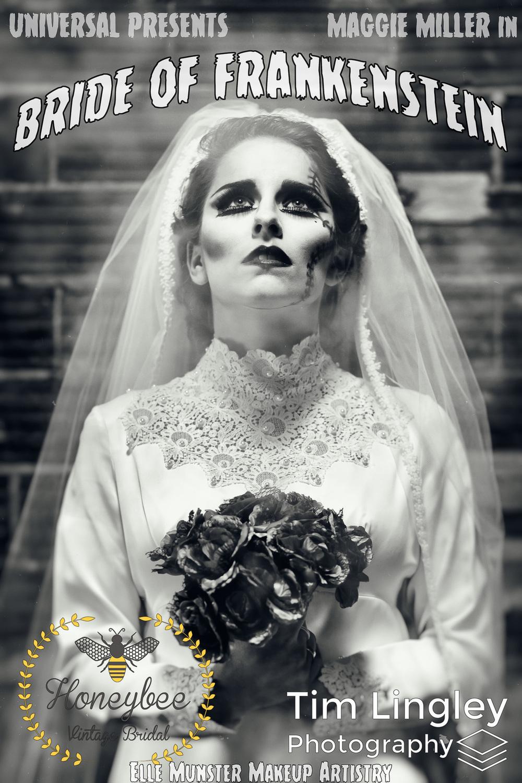 Honeybee Vintage Bridal Halloween Shoot Zombie Bride And Bride