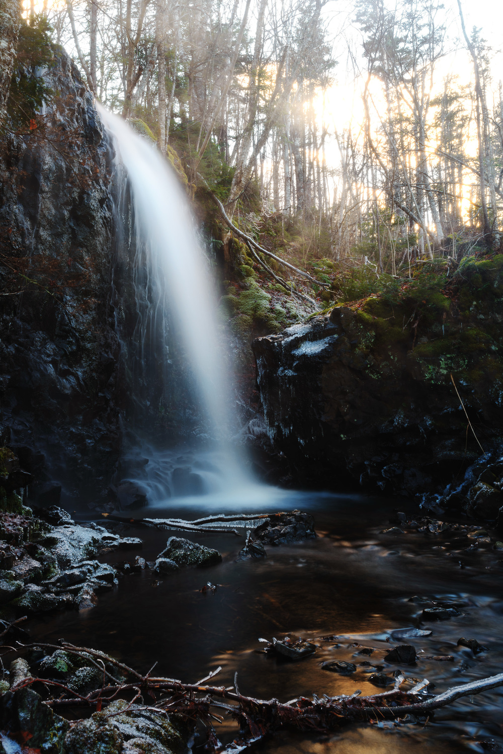 Epic waterfalls near Baxter's Harbour in Nova Scotia -  I'm going to print this one quite big.