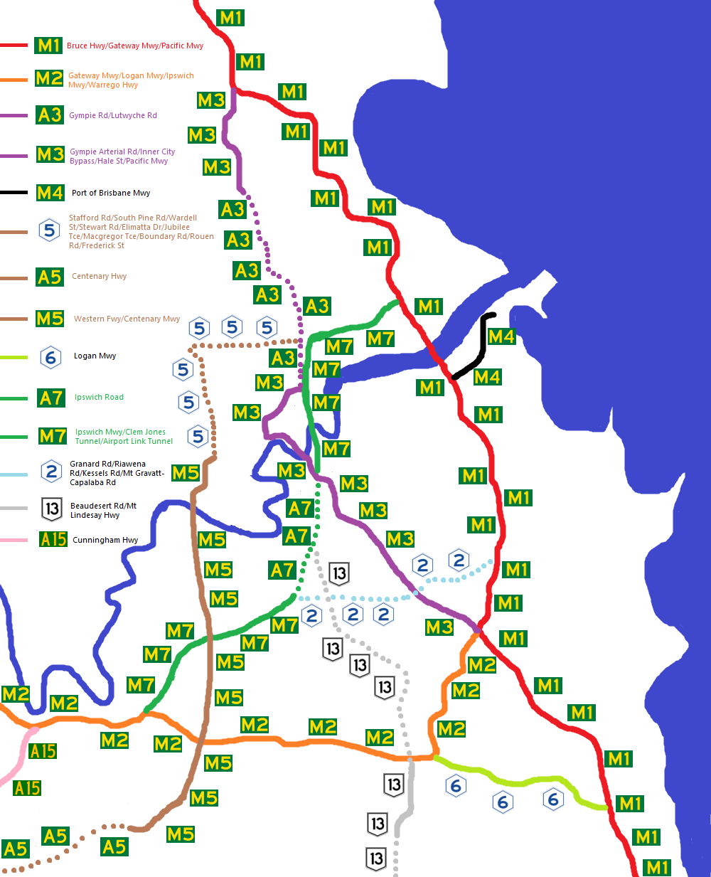 Brisbane's Route Numbering System November 2012