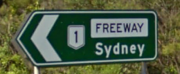 A sign for the F6 (Southern Freeway)
