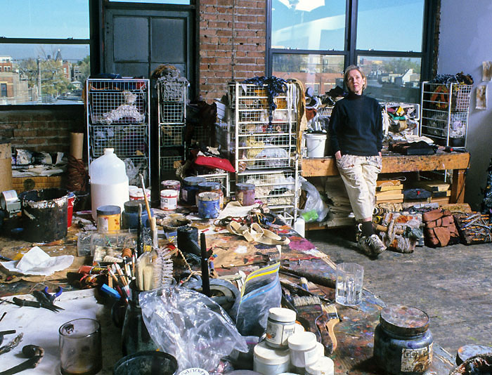 DIANE COOPER AT HER STUDIO IN CHICAGO
