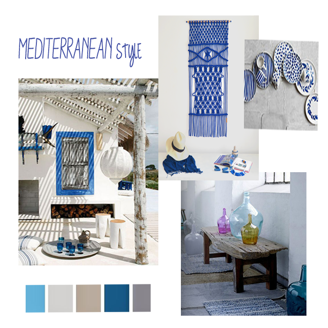 This is our favourite as we born by the Mediterranean! You can combine white & blue but also red tones works perfectly.