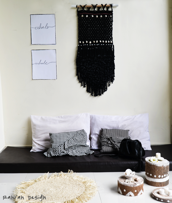 BLACK BEACH MACRAME WALLHANGING