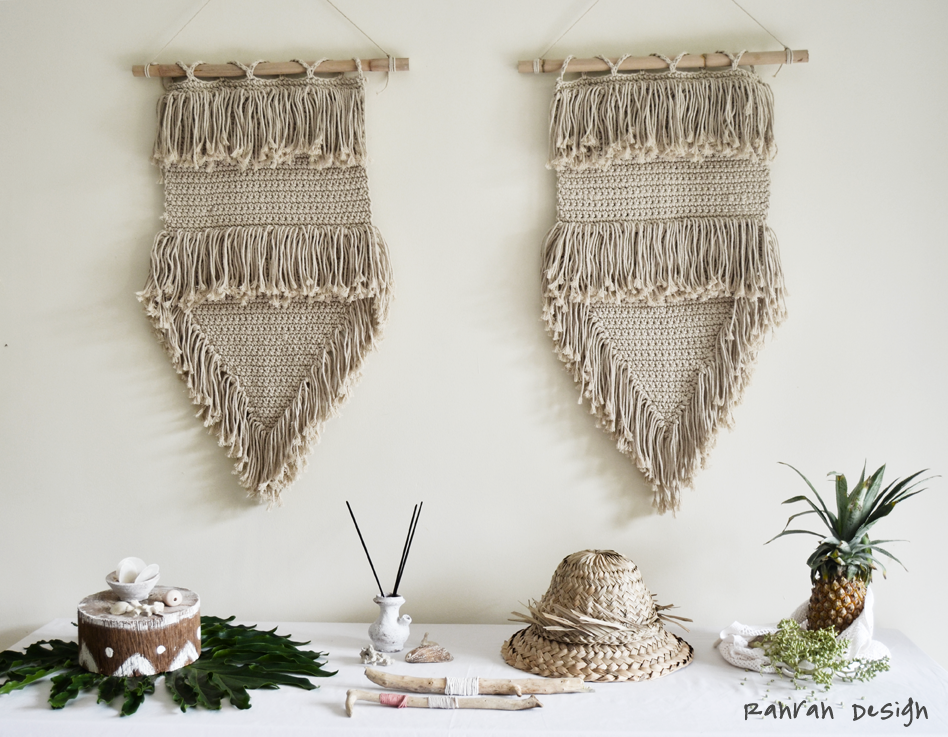 DUO NATURAL MACRAME WALLART