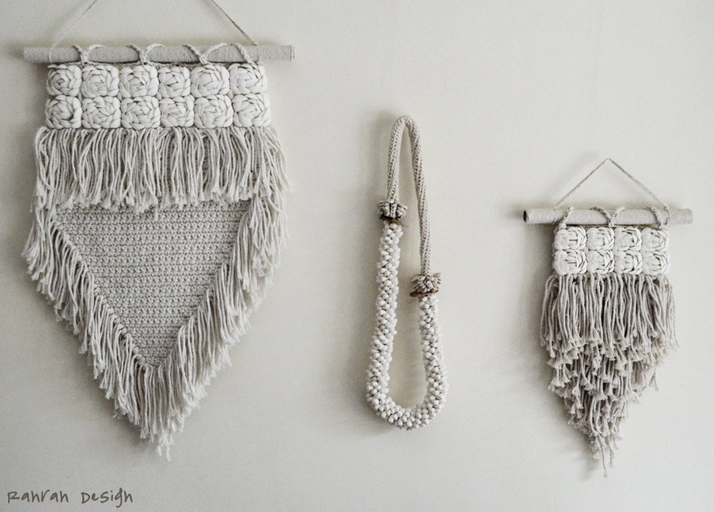 SHELLS MACRAME WALLART