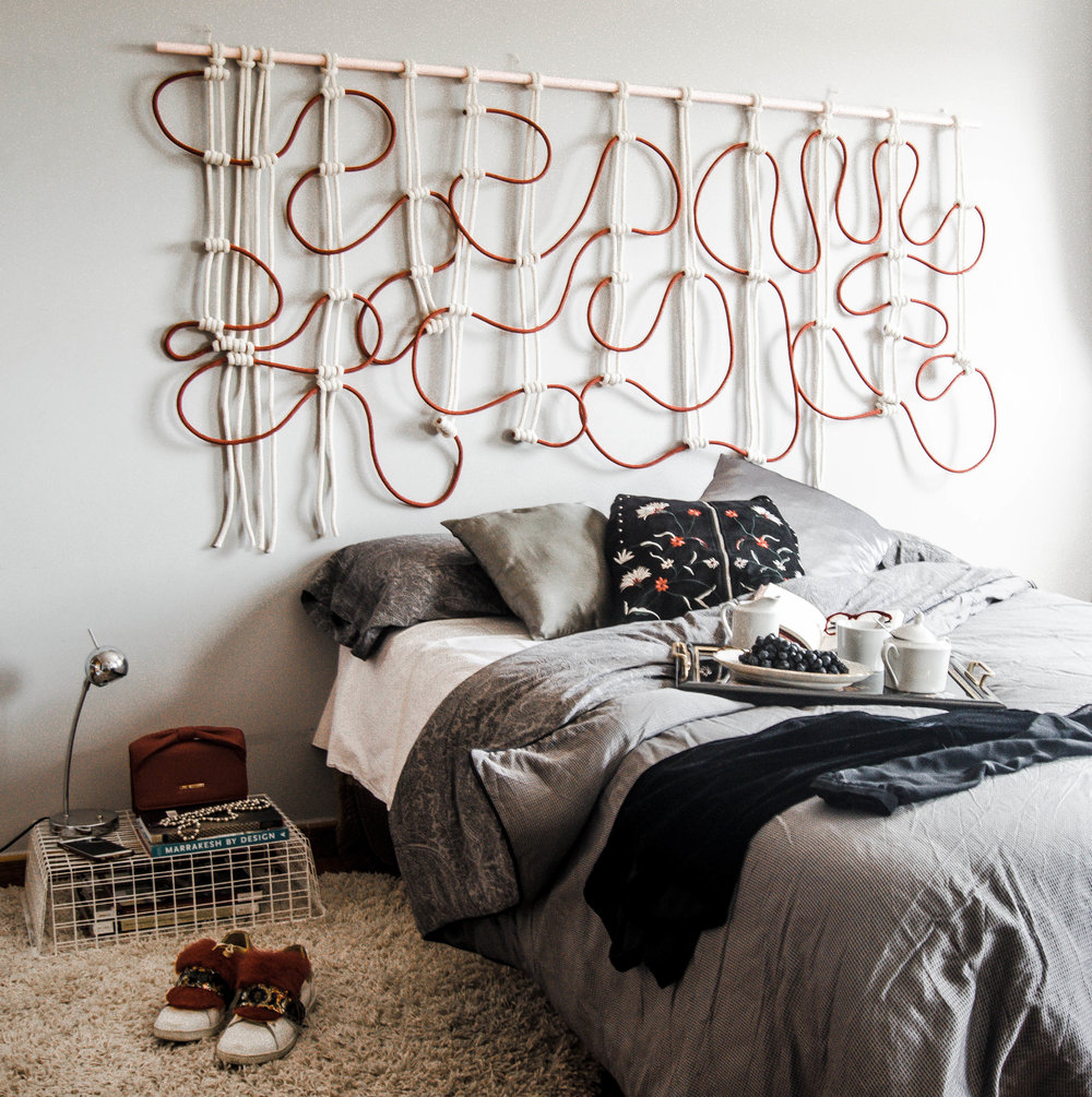Contemporary Macrame Wallart by Belen senra Ranran Design