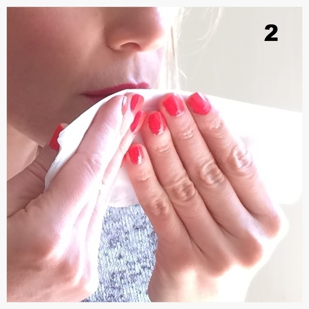cleaning lipstick residues