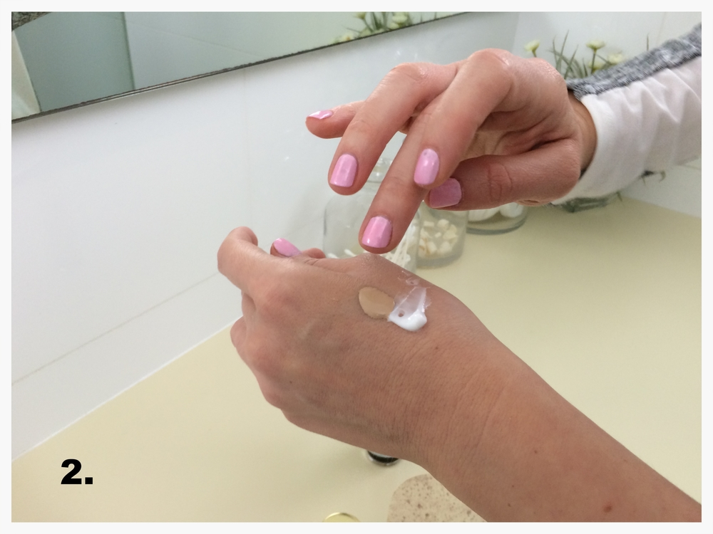 applying benefit facial cream