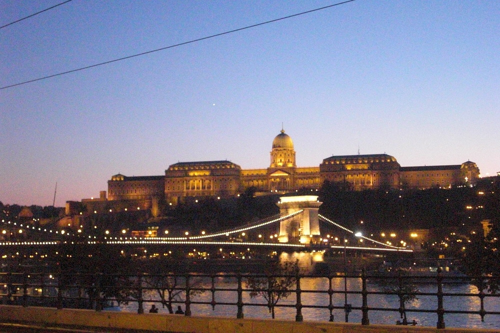The Buda Castle and The Chain Bridge, Budapest. Photo: Ariana Carlén.
