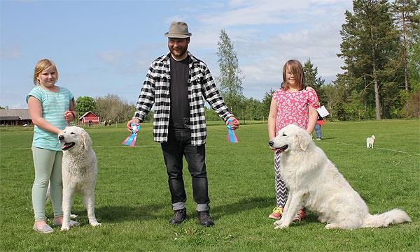 Sorschies Nemes Huba & Sorschies Szép Gulyás tävlar i Barn med hund. Foto: SvKK.