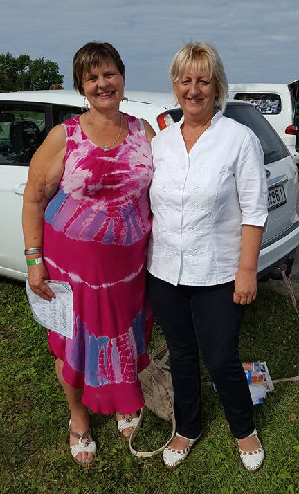 Silvana & Stellas uppfödare Erika Szabóné Pál. Foto: Solveig Bergman.