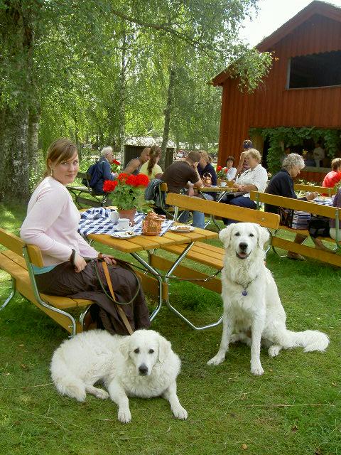 Anya & Länsman på Gammelvala på Brunskogs hembygdsgård.