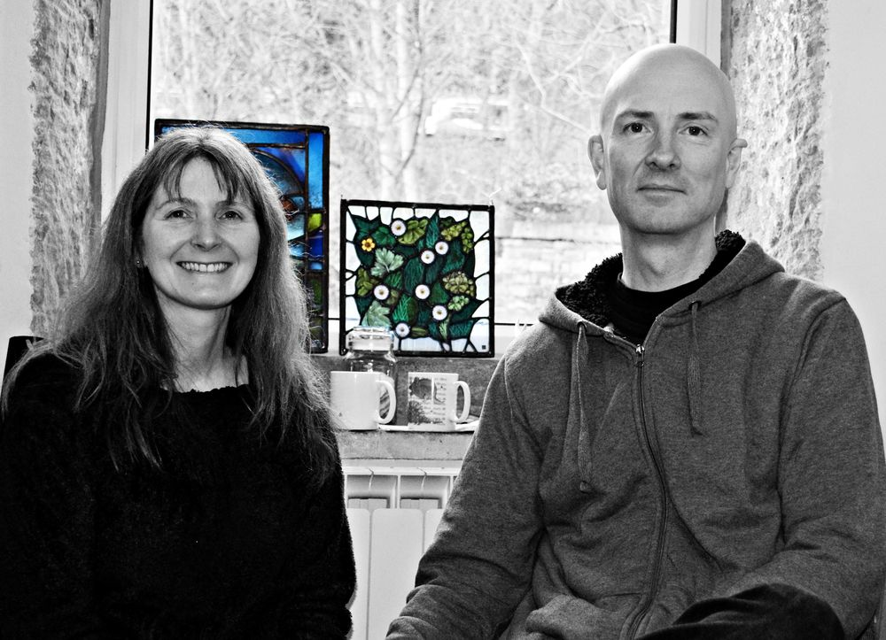 Deb Lowe and Graeme Scott - stained glass artists