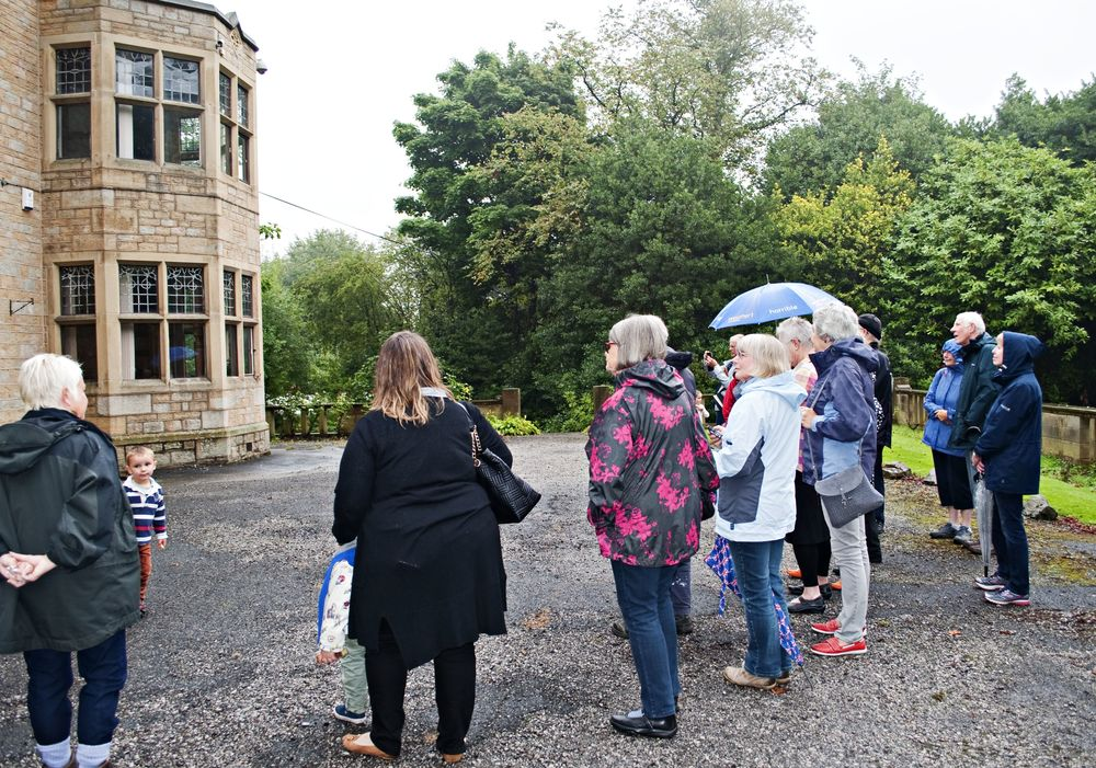Heritage Open Days - we're a soggy stop along the way of an Arts and Crafts architecture tour of Lindley