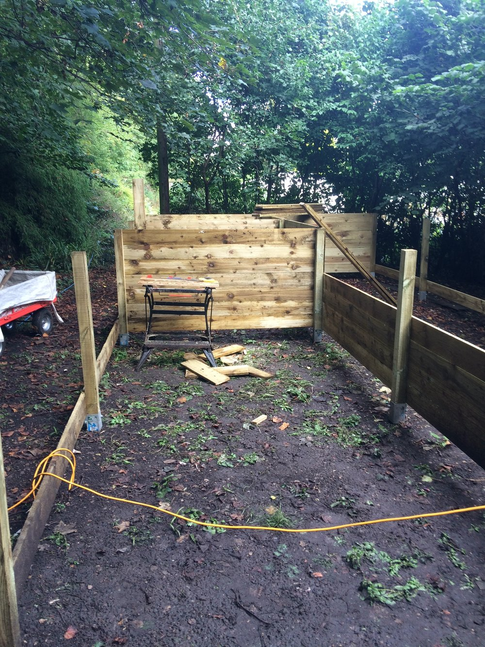 Composting boxes - work in progress