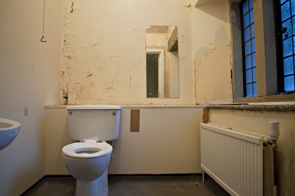 Before...one of the old social services loos