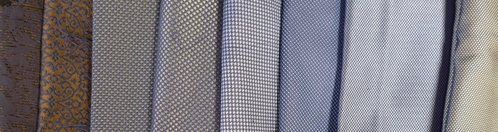 We offer a wide range of fabrics --- all carefully selected from the finest mills in Europe.