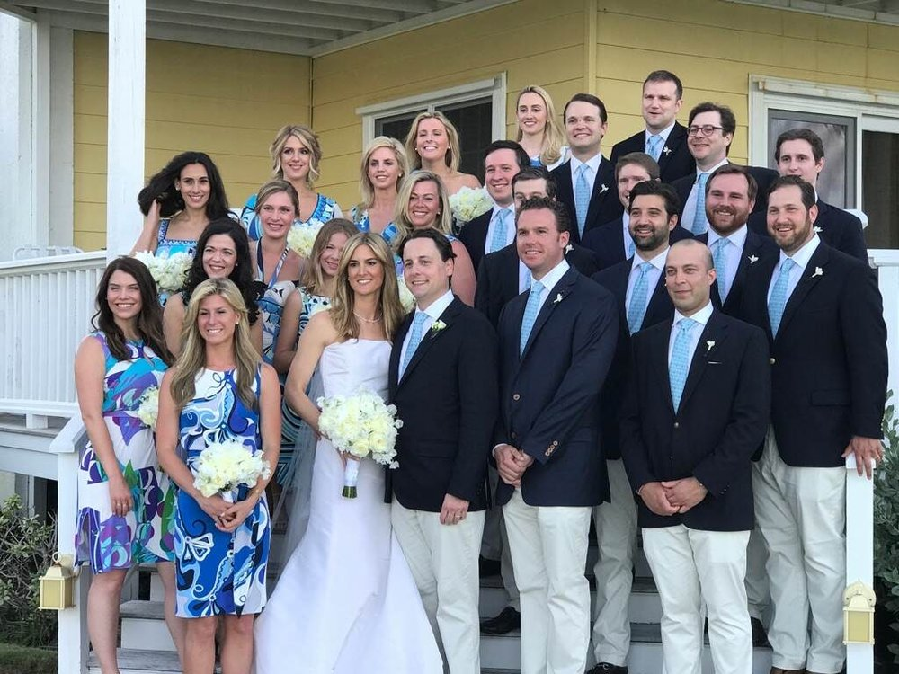 Custom made fabric and necktie for a Martha's Vineyard wedding