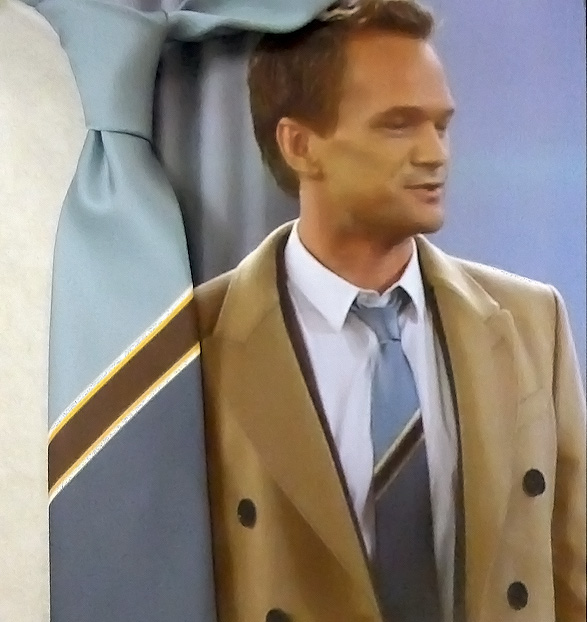 "Recreating a tie worn by Neil Patrick Harris in ""How I met your mother."""