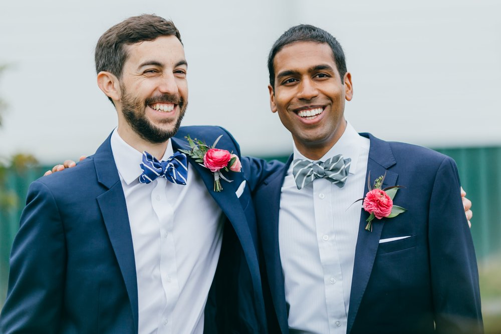 Custom bow ties for a New Hampshire wedding