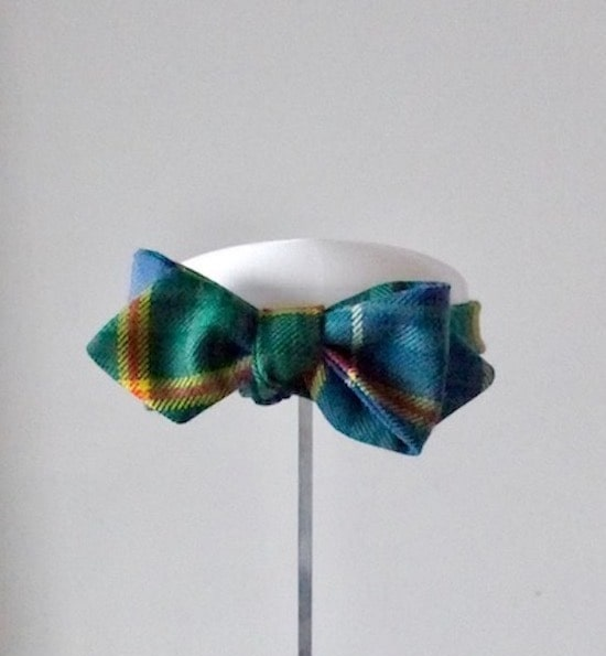 Custom Tartan Bow Tie - Our client had a piece of tartan fabric that her grandfather had brought with him from Scotland.  As a surprise 80th birthday present she asked us to make him a bow tie from that fabric.