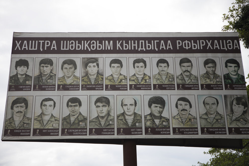 Martires abjasios en la guerra de Abjasia al oeste de Georgia,entre 1992 y 1993. © Pedro J. Saavedra