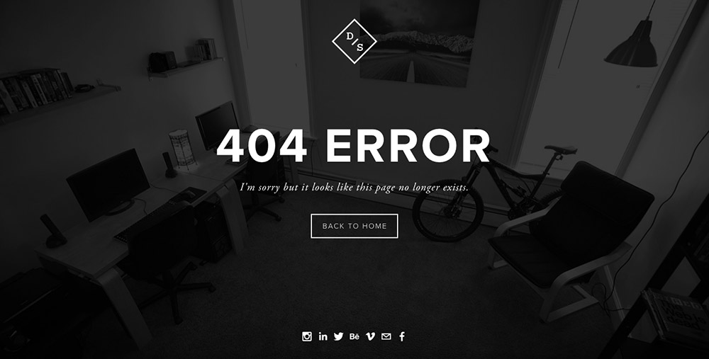 I personally like the look of the Cover Page when creating a custom 404 error page.