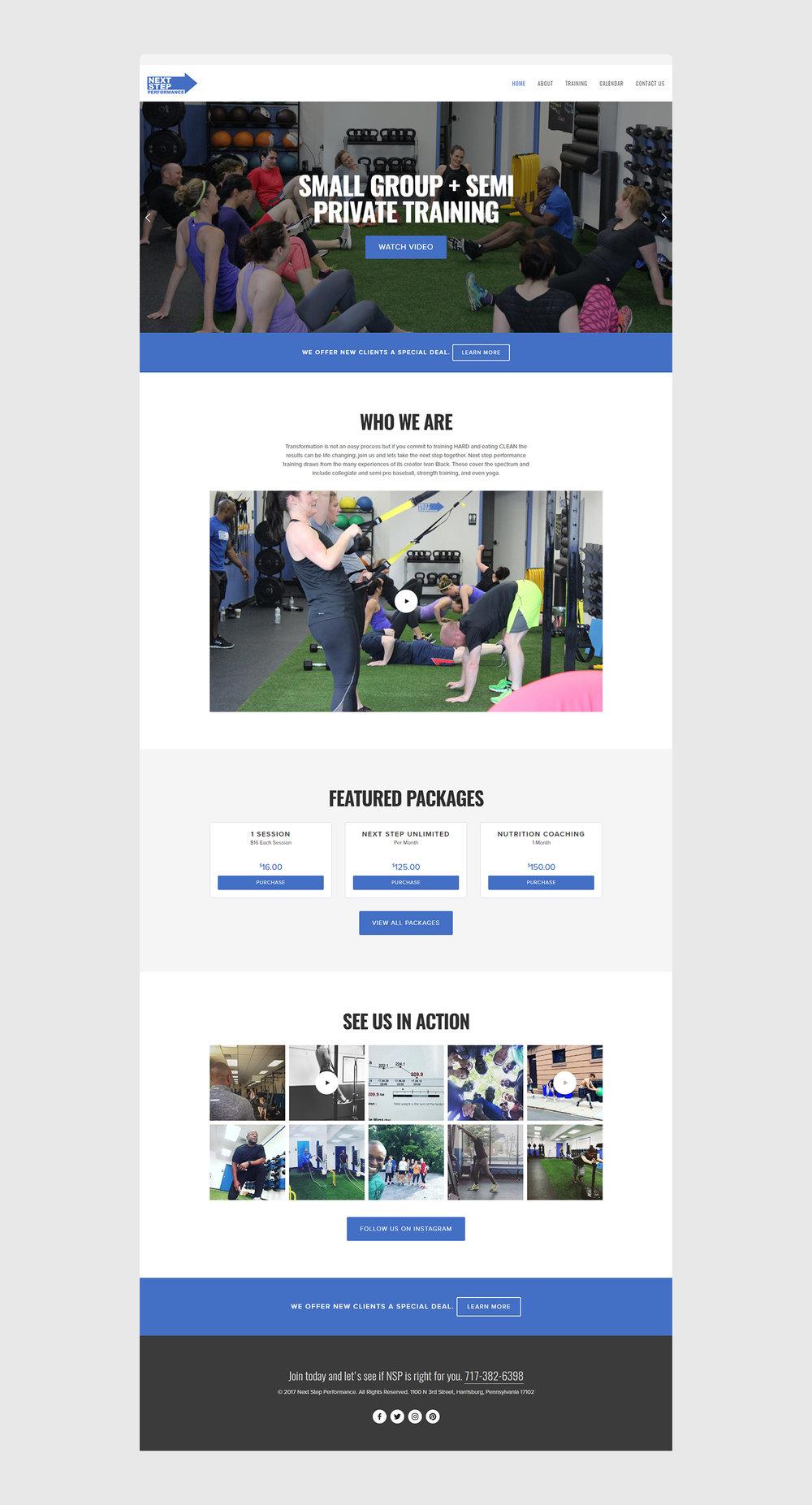 Squarespace Crossfit Studio Portfolio Preview