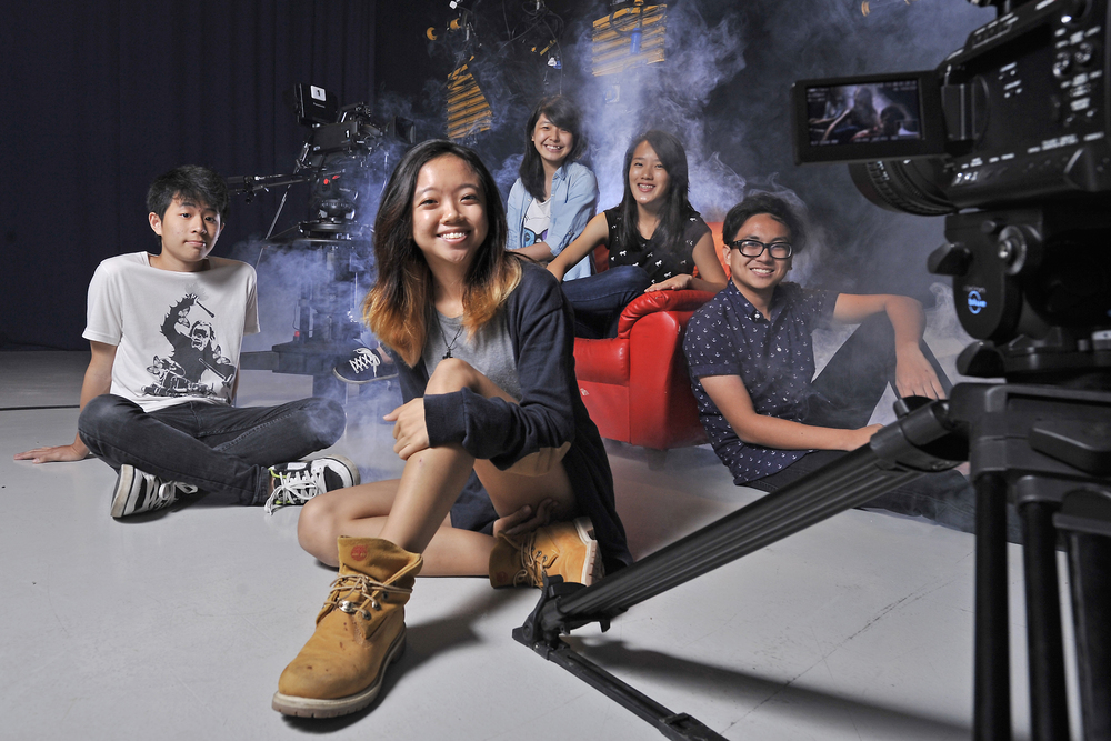 Ngee Ann Polytechnic's School of Film and Media Studies in the TV studio