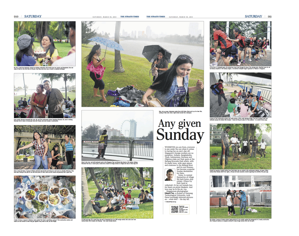Any Given Sunday, The Straits Times