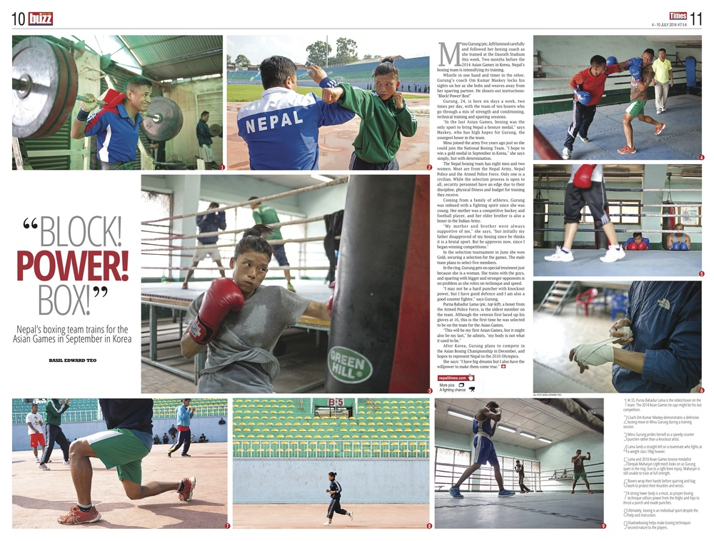 Nepal National Boxing team, Nepali Times, 2014