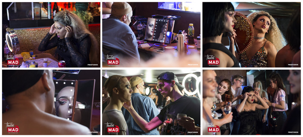 MAD Drag night back stage at the Café de Paris (see Press and Events page for full gallery)