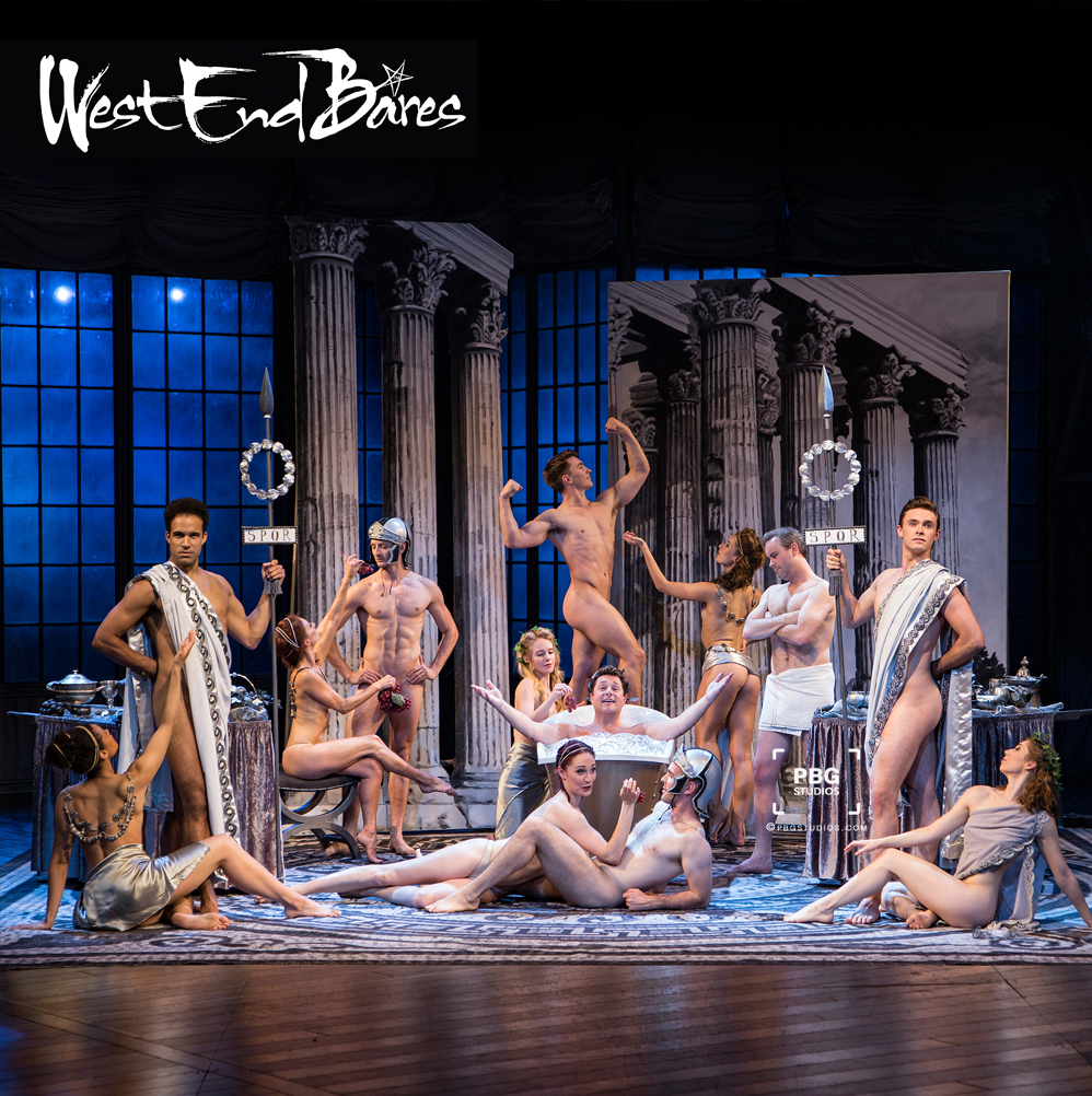 Sir Michael Ball and the cast of Mack and Mabel photographed for the WEB calendar at Chichester Festival theatre