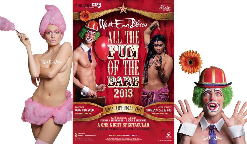 All the Fun of the Bare! WEB show promo images