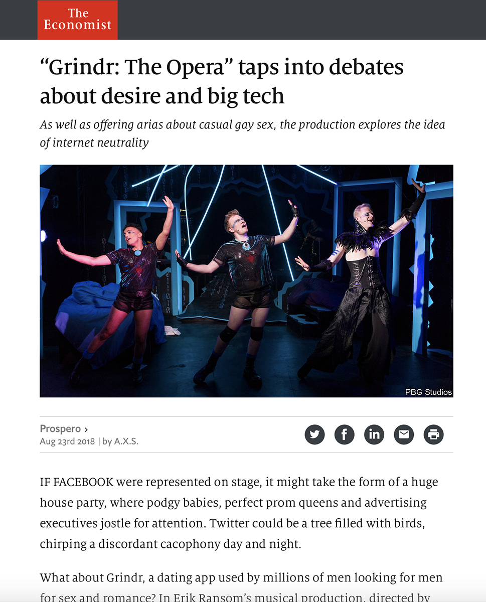 The Economist - Grindr the Opera