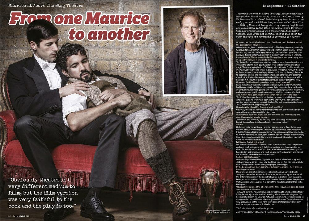 Boyz spread for Maurice (ATS production)